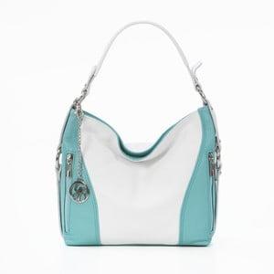 Skórzana torebka Chorche, biało-niebieska