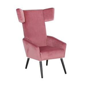 Różowy fotel Max Winzer Elina Suede