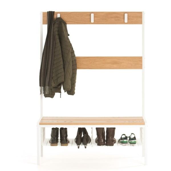 Wieszak do przedpokoju z półką na buty Woodman Industrial