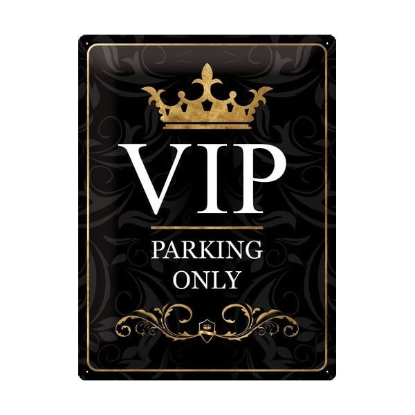 Tabliczka blaszana VIP, 30x40 cm