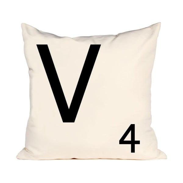 Poszewka na poduszkę Letra V, 50x50 cm