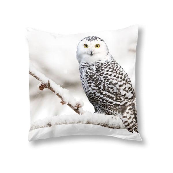 Poszewka na poduszkę Snowy Owl, 50x50 cm