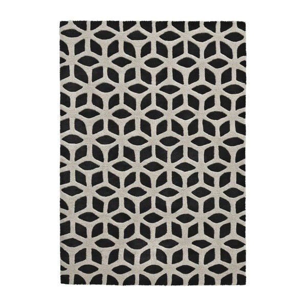 Dywan Fusion Black/Cream, 150x230 cm