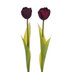 Zestaw 2 sztucznych tulipanów