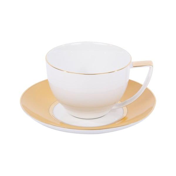 Komplet 6 filiżanek na herbatę, ze spodkiem, Ramponi Amber