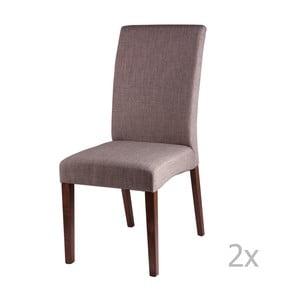 Zestaw 2 jasnoszarych krzeseł sømcasa Elsa