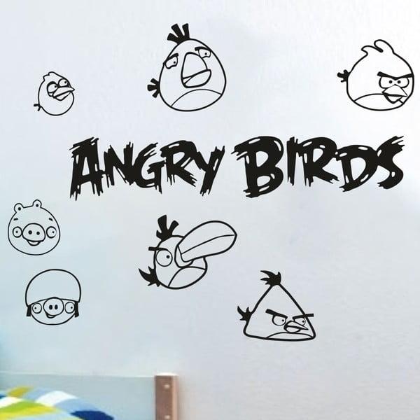 Naklejka ścienna Angry birds, czarna