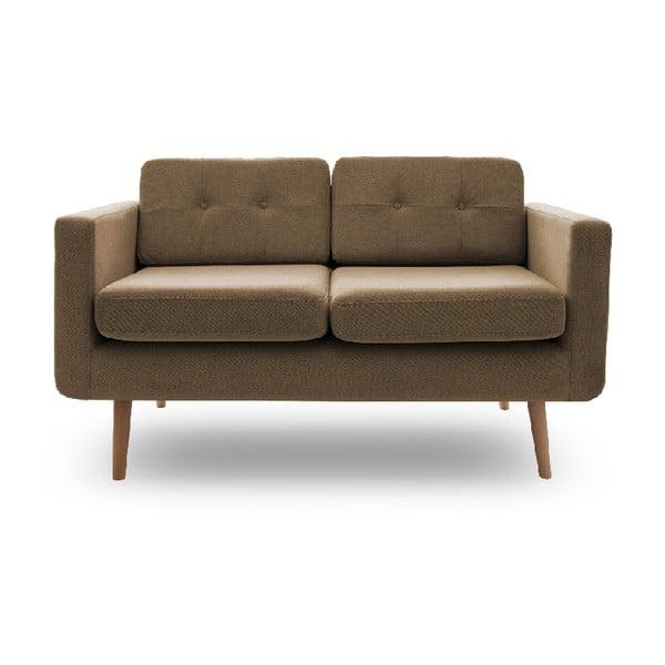 Sofa dwuosobowa VIVONITA Sondero Light Brown, naturalne nogi