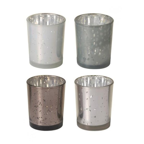 Zestaw 4 świeczników Metal