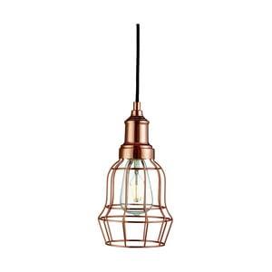 Lampa wisząca Searchlight Bell Cage, miedziana