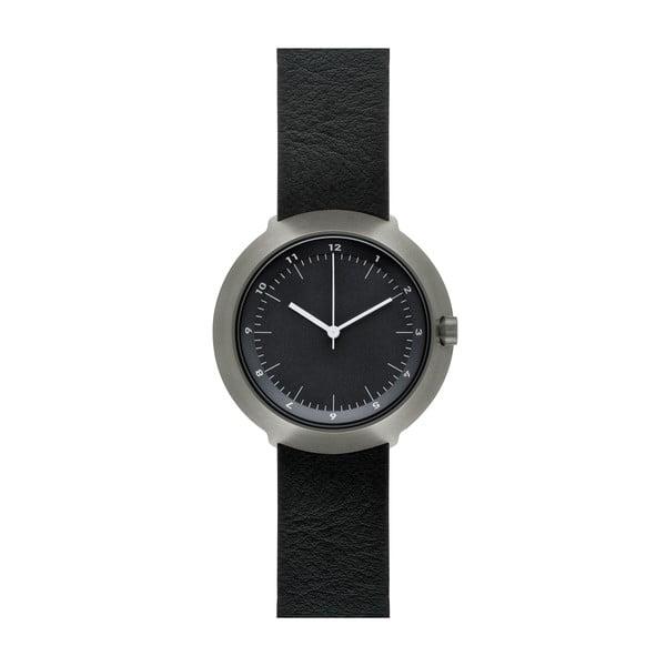 Zegarek Black Fuji Black Leather, 43 mm