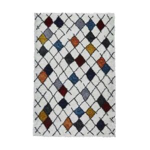Biały dywan z kolorowymi wzorami Think Rugs Broadway, 120x170 cm