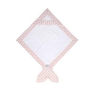 Dziecięcy ręcznik Baby Bites Fish Rose, 80x 80 cm