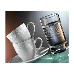 Komplet szklanek i filiżanek z talerzykiem Elegancja, 12 szt.
