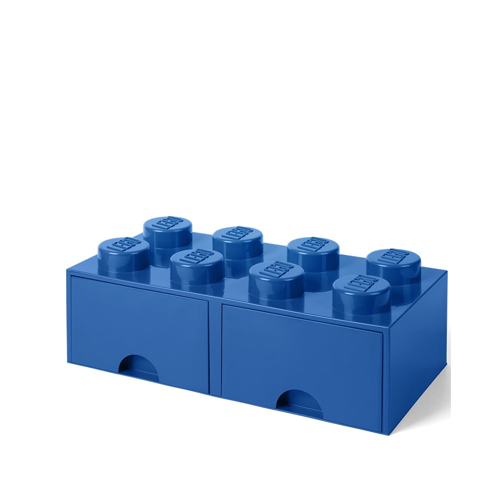 Niebieski pojemnik z 2 szufladami LEGO®