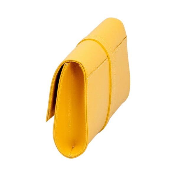 Torebka   skórzana Andrea Cardone, żółta 1040
