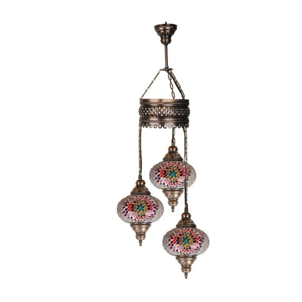 Szklana lampa wisząca Three IV, 17 cm