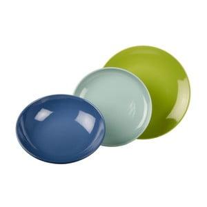 18-częściowy komplet talerzy Kaleidos, niebiesko-zielony