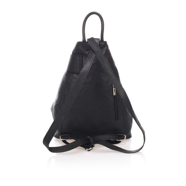 Czarny plecak skórzany Lisa Minardi Narni