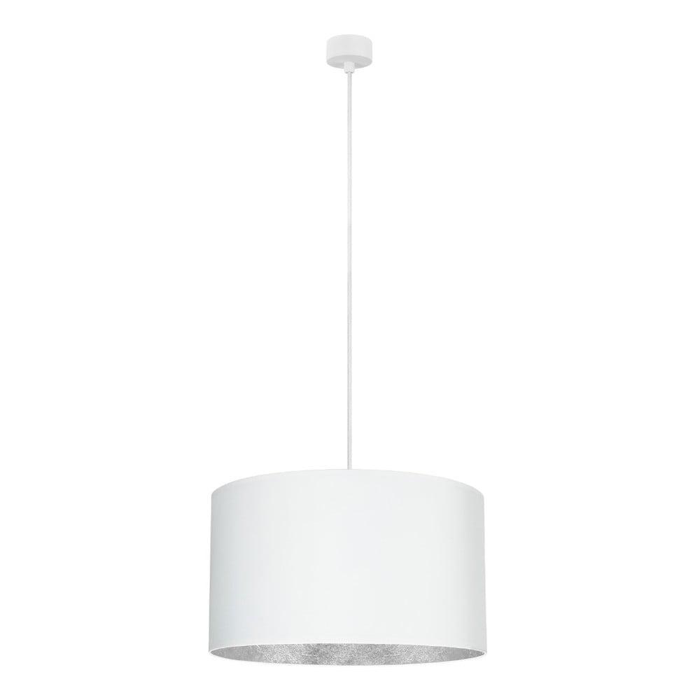 Biała lampa wisząca z wnętrzem w srebrnej barwie Sotto Luce Mika, ⌀50cm