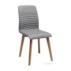 Szare krzesło do jadalni Kare Design Lara