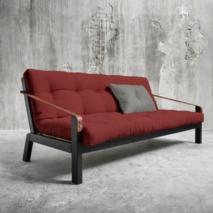 Sofa rozkładana Karup Poetry Black/Passion Red/Granite Grey
