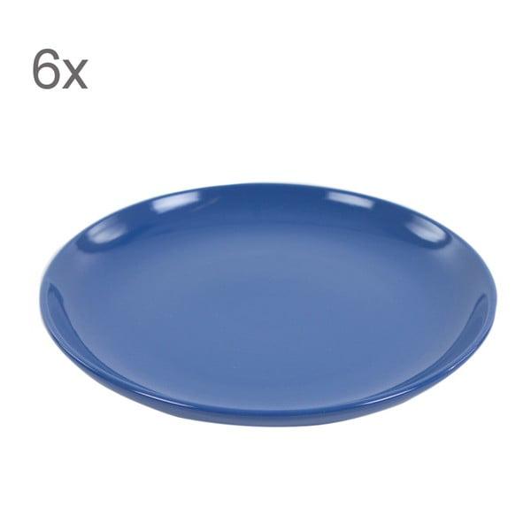 Zestaw 6 talerzy deserowych Kaleidoskop 21 cm, niebieski