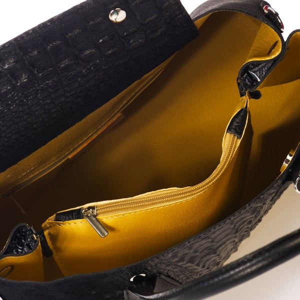 Czarna torebka skórzana Federica Bass Menkar
