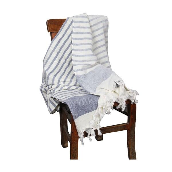 Ręcznik hammam Terry Navy Blue, 95x170 cm