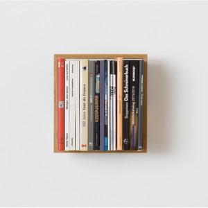 Półka na książki z drewna dębowego das kleine b b7, 34x32 cm