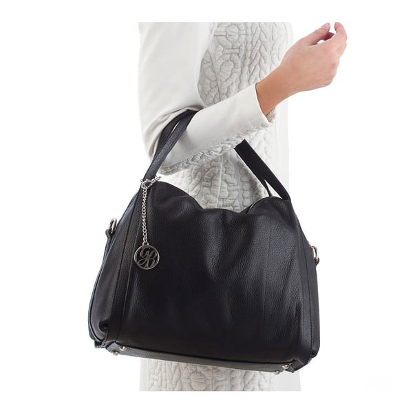 Skórzana torebka Riccardo, czarna