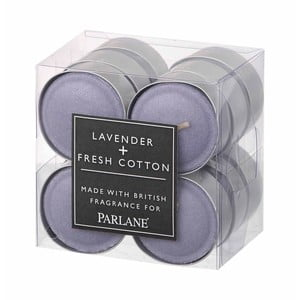 Zestaw 12 świeczek tealight Parlane Lavender & Cotton