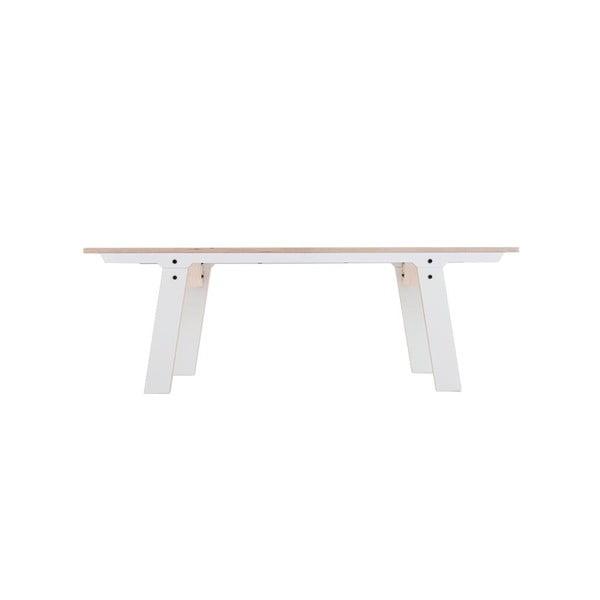 Biała ławka rform Slim 01, dł. 133 cm