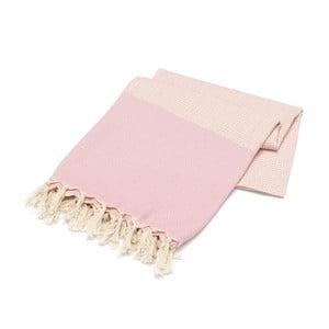 Ręcznik hammam Stripped Elmas Powder, 100x180 cm