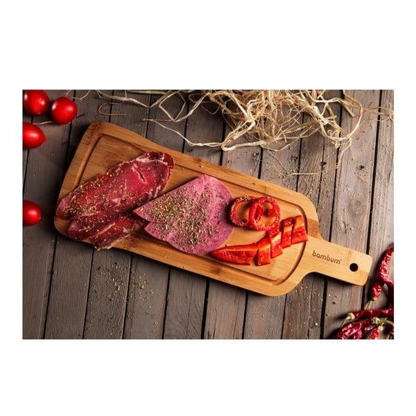Bambusowa taca do serwowania Bambum Rula Steak, 40x15 cm