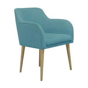 Turkusowy fotel Helga Interiors Matt
