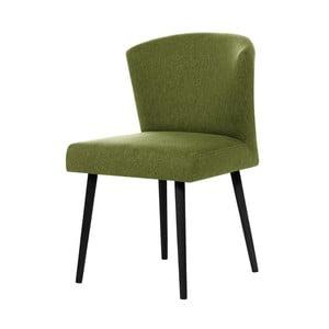 Zielone krzesło z czarnymi nogami My Pop Design Richter