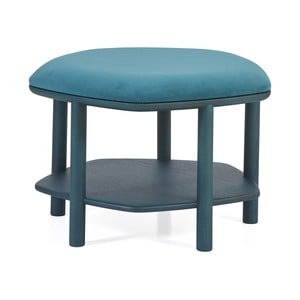 Niebieskozielony taboret z drewna jesionowego HARTÔ Abel, ⌀55cm