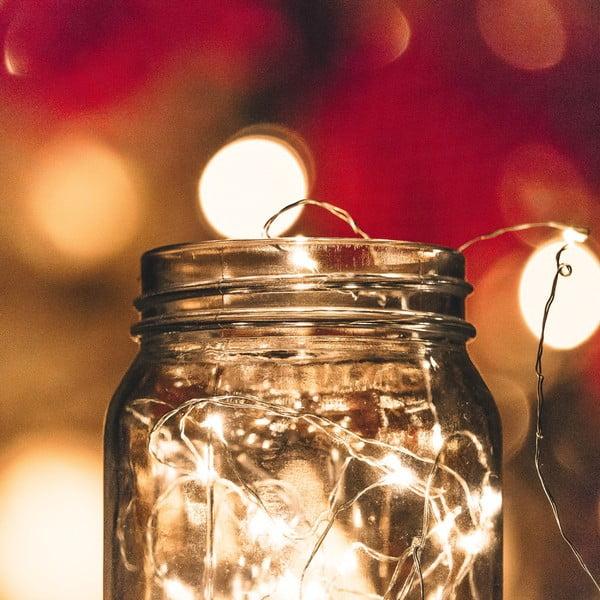Girlanda świetlna z LED w srebrnej barwie DecoKing Simple, dł.5,3m