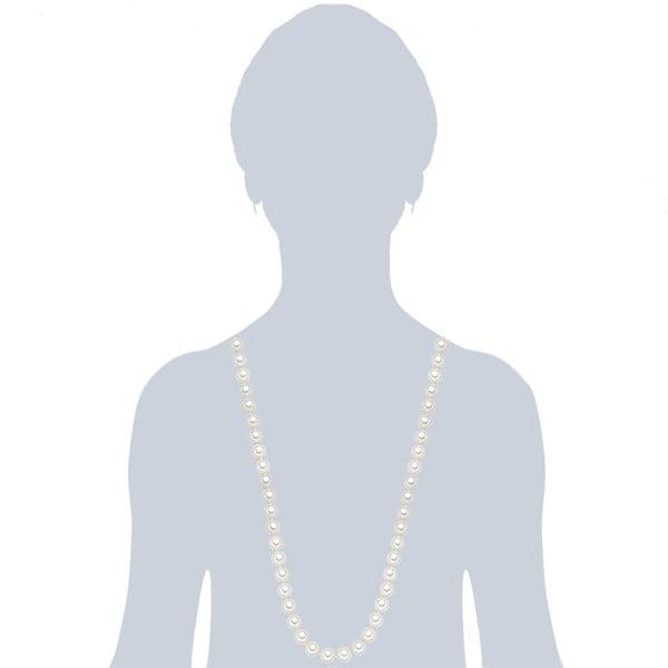 Naszyjnik z białych pereł ⌀ 12 mm Perldesse Muschel, długość 90 cm
