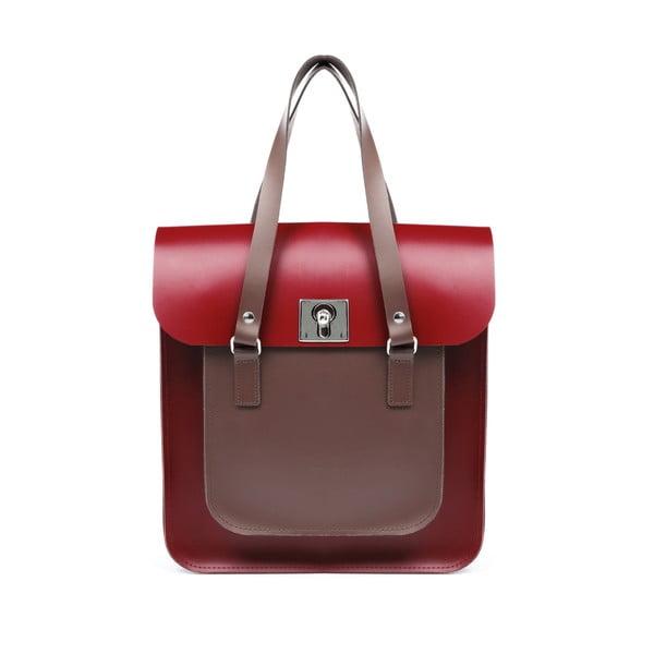 Skórzana torebka Rosemont Red/Chestnut