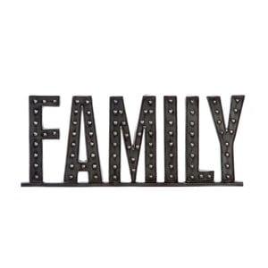 Napis dekoracyjny Family, 51 cm