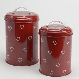 Zestaw 2 pojemników White&Red Hearts