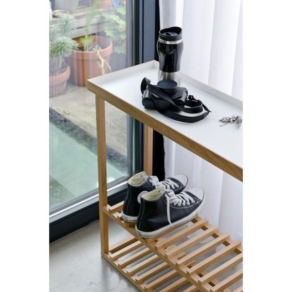 Szafka na buty z półką Hello Storage, biały blat