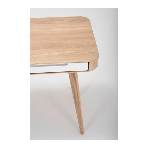 Konsola z drewna dębowego Gazzda Ena, 110x42x75 cm