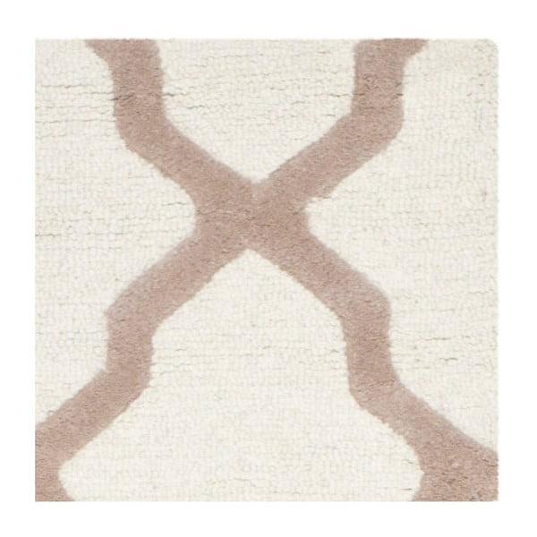 Dywan wełniany Ava White Beige, 152x243 cm