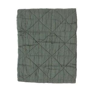 Zielony pled bawełniany Södahl Triangle, 130x170 cm