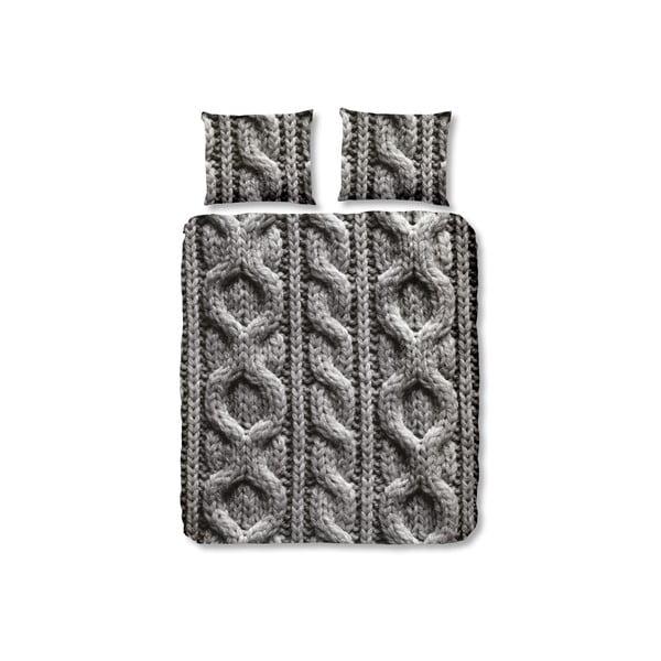 Szara pościel Muller Textiel Kabel, 240x200 cm