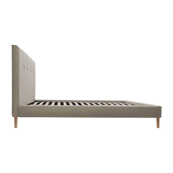 Jasnobrązowe łóżko z naturalnymi nóżkami Vivonita Kent, 160x200 cm