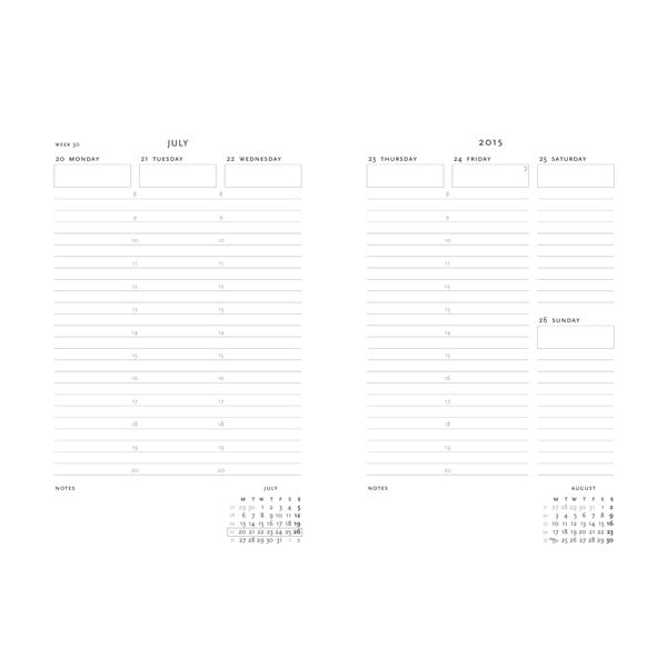Organizer 2015 Ocean Song 13x8 cm